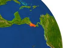 Carte de Costa Rica en rouge illustration stock