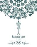 Carte de couture de crochet et de mannequin de vintage illustration libre de droits