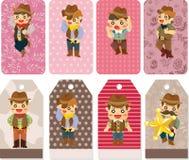 Carte de cowboy de dessin animé Photos libres de droits
