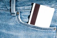 Carte de crédit dans la poche avant Photographie stock libre de droits