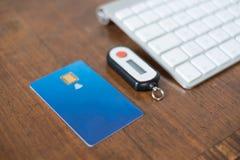 Carte de crédit et générateur sans contact de goupille de sécurité photo stock