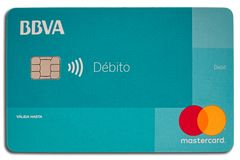 Carte de crédit de MasterCard BBVA photos stock