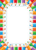 Carte de crayons Photos stock
