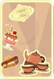Carte de cru avec un dessert de fraise Image stock
