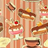 Carte de cru avec un dessert de fraise Photo libre de droits
