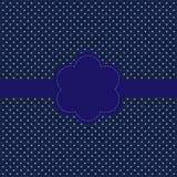 Carte de cru, conception de point de polka Images stock