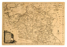 Carte de cru de la Pologne. Images libres de droits
