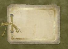 Carte de cru de vieux papier Photographie stock libre de droits