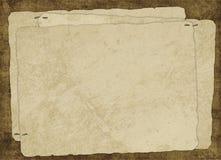 Carte de cru de vieux papier Photo libre de droits
