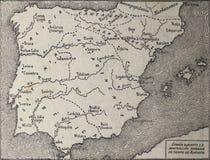 Carte de cru de Hispania à la domination romaine, Espagne image libre de droits