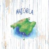 Carte de cru de Majorca illustration stock