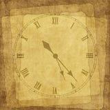 Carte de cru pour les vacances avec l'horloge Photos libres de droits
