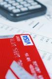 Carte de débit de visa image stock