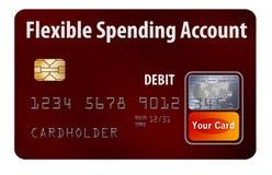 Carte de débit flexible du compte FSA de dépense illustration de vecteur