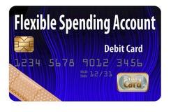 Carte de débit de FSA C'est une carte de débit flexible de compte de dépense avec une conception d'aide de bande illustration libre de droits