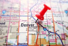 Carte de Denver Images stock