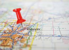 Carte de Denver Photographie stock