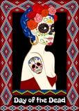 Carte de Dia de los Muertos Photos stock