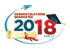 Carte de diplômés de félicitations illustration libre de droits