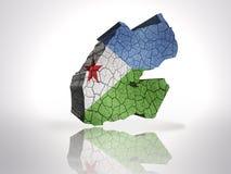 Carte de Djibouti Images stock