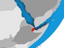 Carte de Djibouti illustration de vecteur