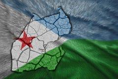 Carte de Djibouti Photo libre de droits