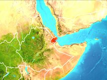 Carte de Djibouti Photo stock