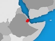 Carte de Djibouti Images libres de droits