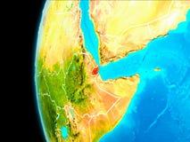 Carte de Djibouti en rouge illustration libre de droits