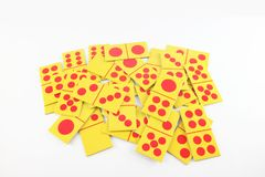 Carte de domino Images stock