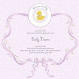 Carte de douche de bébé Images libres de droits