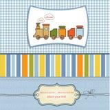 Carte de douche de bébé Image stock