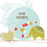 Carte de douche de chéri Photo stock
