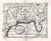 Carte 1663 de Duval des Etats-Unis du sud Illustration Libre de Droits
