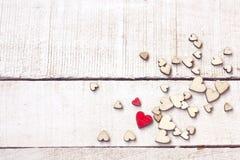 Carte de félicitation de jour du ` s de Valentine, groupe de contreplaqué différent image libre de droits