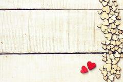 Carte de félicitation de jour du ` s de Valentine, pile de frontière de pl différent image stock