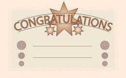 Carte de félicitations Photo stock
