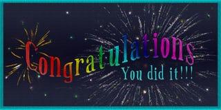 Carte de félicitations photos stock