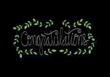 Carte de félicitations Calligraphie de lettrage de main illustration libre de droits