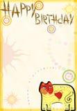 Carte de félicitations sur l'anniversaire Image libre de droits