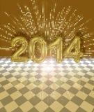 Carte 2014 de fête Photos stock