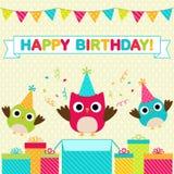 Carte de fête d'anniversaire Photo libre de droits