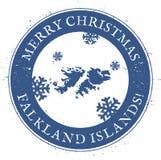 Carte de Falkland Islands Malvinas Photo stock