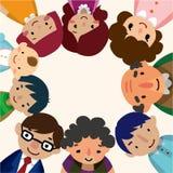 Carte de famille de dessin animé Photographie stock libre de droits
