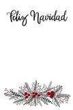 Carte de Feliz Navidad Hand Lettering Greeting Photographie stock libre de droits