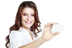 Carte de femme d'affaires Images libres de droits