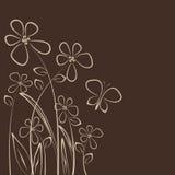 Carte de fleur Images stock