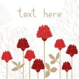 Carte de fleur Photographie stock