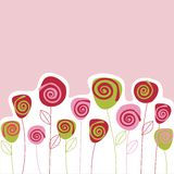 Carte de fleur Photo stock