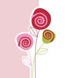 Carte de fleur Photographie stock libre de droits